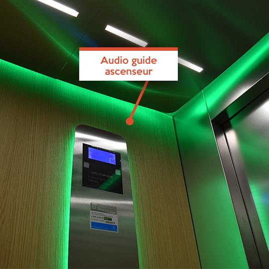 Audio guide ascenseur - En situation de handicap